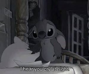 cry, stitch, and sad image
