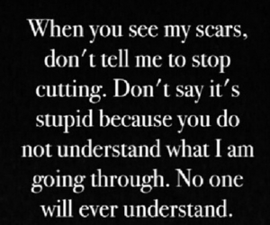 quote, scars, and don't understand image