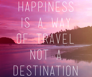 happiness, quote, and travel image