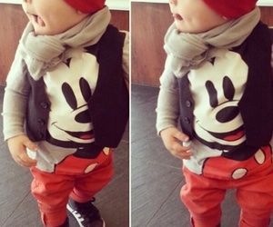 baby, boy, and mickey image