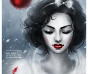 snow white, disney, and apple image