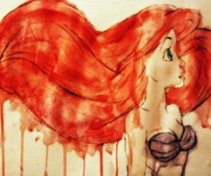ariel, art, and mermaid image