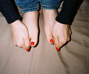 red, feet, and nails image