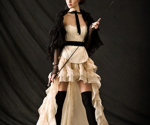 steampunk, dress, and top hat image