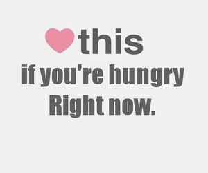 hungry, food, and heart image