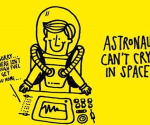 astronaut, space, and fact image