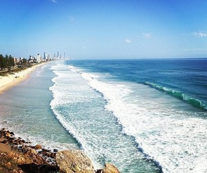 beach, view, and gold coast image