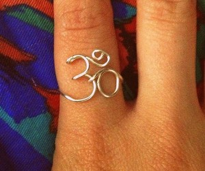Ohm, ring, and silver ring image