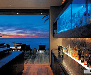 house, luxury, and ocean image