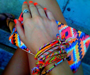 bright, colourful, and nails image