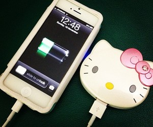 charger, hello, and kitty image