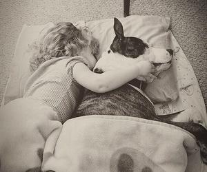 dog, girl, and I Love You image