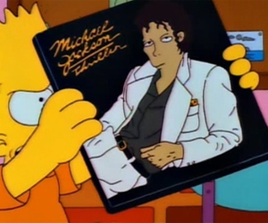 michael jackson, the simpsons, and bart image
