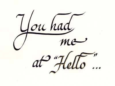 You Had Me At Hello Quote Magnificent You Had Me At Hello [48] 4848 Delia's Designs HandPainted