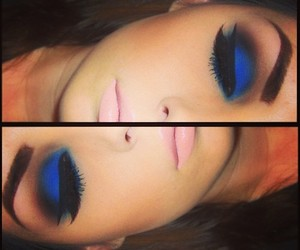blue, eyeliner, and M.A.C image