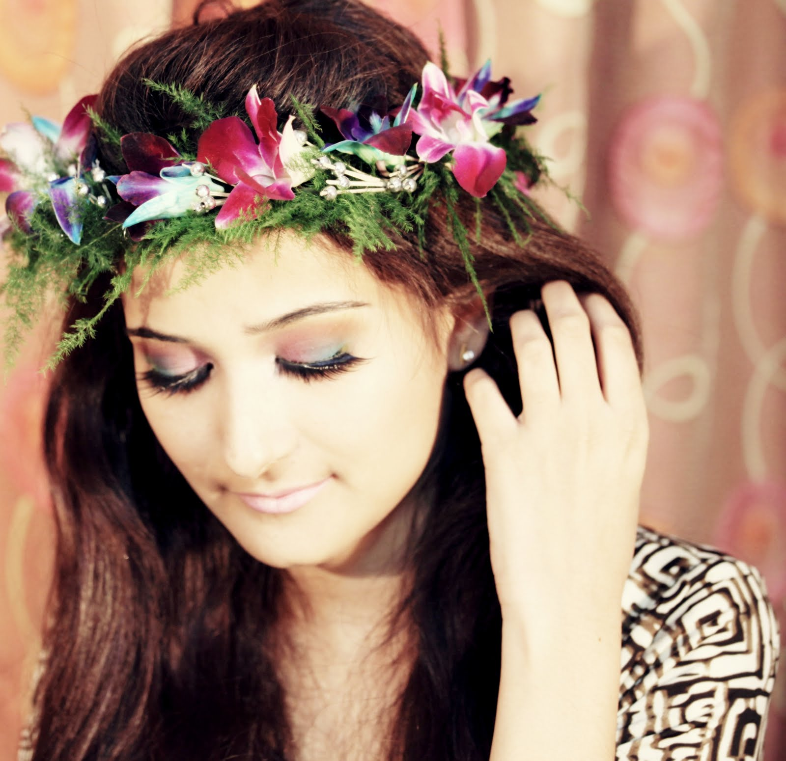 Flower crown girls fashion on we heart it izmirmasajfo