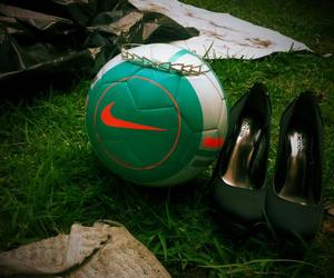 football, soccer, and ♥ image