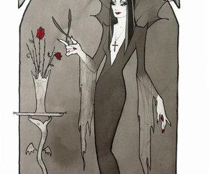 Morticia Addams and drawing image