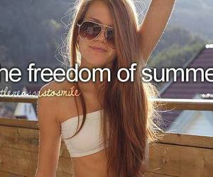 summer, girl, and freedom image