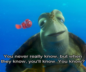 nemo, turtle, and quotes image