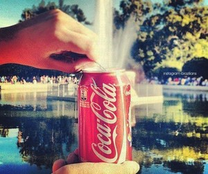 coca cola, drink, and fountain image