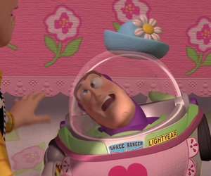 toy story, buzz lightyear, and pink image