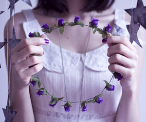 purple, delicate, and girl image