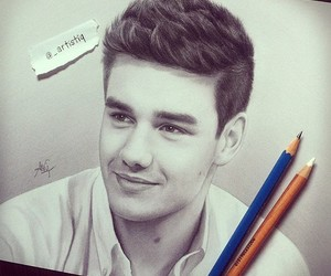 liam payne, one direction, and drawing image