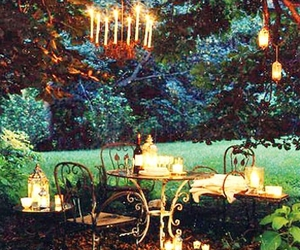 candles, romantic, and decor image
