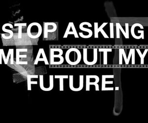 future, text, and stop image