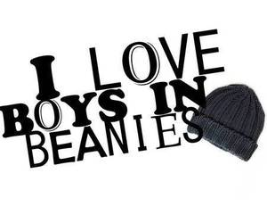 boy, beanies, and love image