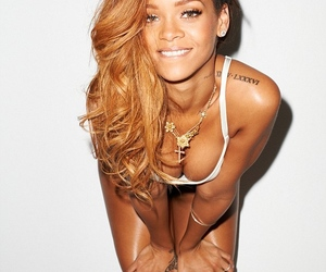 rihanna, tan, and caramel hair image
