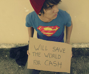 superman, boy, and world image