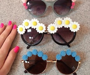 flowers, sunglasses, and glasses image