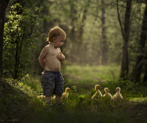 baby, child, and duck image