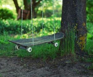 skateboard, swing, and skate image