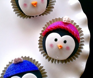 cupcake, penguin, and cute image