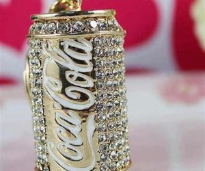 coca cola, gold, and coca-cola image