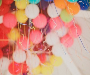 balloons, party, and colors image