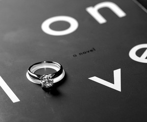 book, setting, and engagement ring image