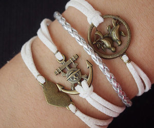 anchor, bracelet, and charm bracelet image