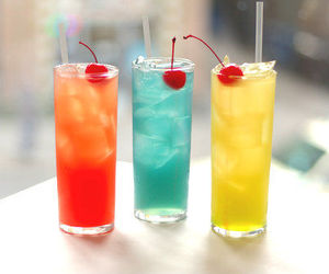 drink, cherry, and blue image