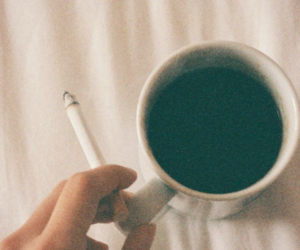 cigarette, hipster, and coffee image