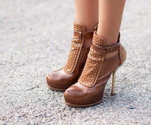 brown, heels, and shoes image