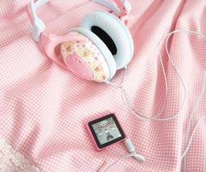 pink, music, and headphones image