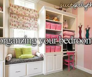 bedroom, organize, and pink image