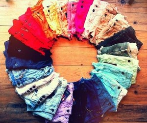 shorts, colorful, and jeans image