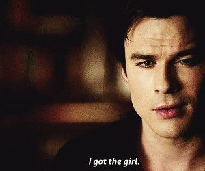 boy, girl, and tvd image