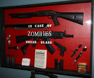 zombies, gun, and zombie image