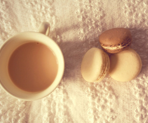 tea, coffee, and macaroons image